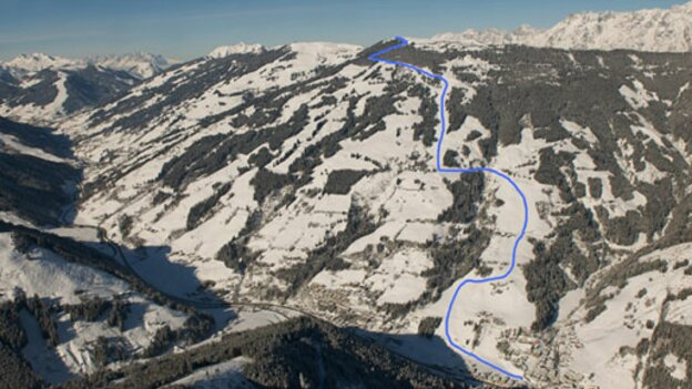 From the Skicircus Saalbach Hinterglemm Leogang Fieberbrunn to the center of Viehhofen | © viehhofen.at